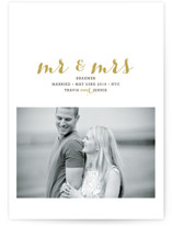 MR. AND MRS. Wedding Announcements