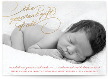 Greatest Gift Foil-Pressed Birth Announcement Cards