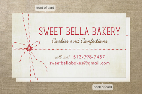 Baker s Twine Business Cards by cadence paige desi