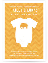 Adopting a Baby Boy Baby Shower Invitations
