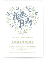 Hello Heart Baby Shower Invitations