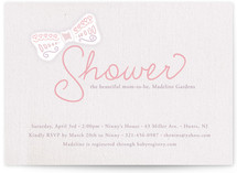 Bowtied Baby Shower Invitations