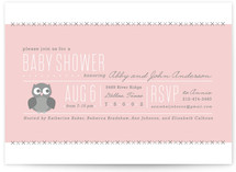 Perched Owl Baby Shower Invitations