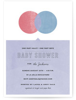 Yellow and Blue Make Green Baby Shower Invitations
