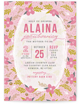 Abondance Fleurs Baby Shower Invitations