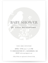 Perched Baby Shower Invitations