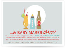 Drinks All Around Baby Shower Invitations
