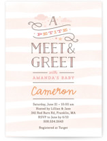 Petite Meet & Greet Baby Shower Invitations