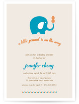Peanut and the Elephant Baby Shower Invitations
