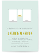 Tiny Towel Baby Shower Invitations