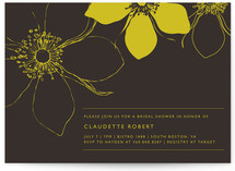 Modern Lotus Bridal Shower Invitations