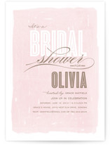 Aqueous Bridal Shower Invitations