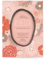 Peony Frame Bridal Shower Invitations