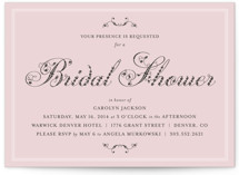 Formal Fleur Bridal Shower Invitations