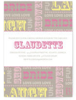 Cirque Bridal Shower Invitations