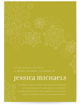 Cascading Shower Bridal Shower Invitations
