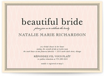 float + framed Bridal Shower Invitations