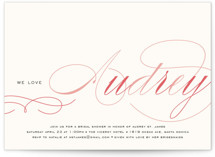 Blushing Bride Bridal Shower Invitations