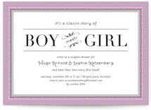 Classic Story Bridal Shower Invitations
