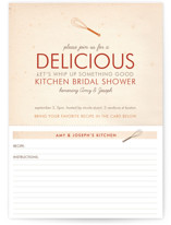 Couple's Recipe Bridal Shower Invitations