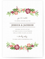 Tropical Branches Bridal Shower Invitations