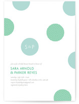 Confetti Dots Bridal Shower Invitations