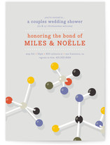 Molecular Bond Bridal Shower Invitations