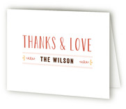 Scalloped Banner Birth Announcements Thank You Cards