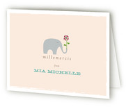 Giraffes & Elephant Birth Announcements Thank You Cards