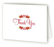 Vintage Floral Birth Announcements Thank You Cards