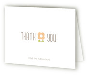 petal pattern Birth Announcements Thank You Cards