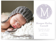 Moon Struck Birth Announcements
