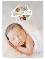 Flower Seal Birth Announcements