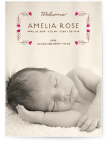 Sweet Blossoms Birth Announcements