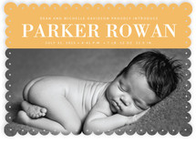 Gold Eyelet Birth Announcements