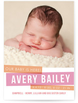 Bold Babe Birth Announcements