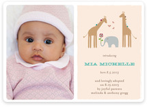Giraffes & Elephant Birth Announcements