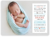 Bebe Story Birth Announcements
