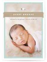 Sweet Gardenia Birth Announcements
