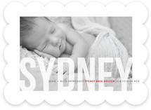 Studio Crop Birth Announcements