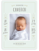 Fancy Type Birth Announcements