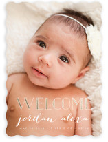 Gold Welcome Birth Announcements