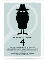 Secret Agent Children's Birthday Party Invitations