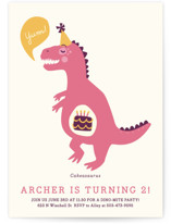 Cakeasaurus Dinosaur Children's Birthday Party Invitations
