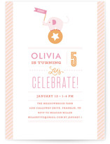 Pink Big Top Circus Children's Birthday Party Invitations