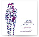 Baby Zebra Children's Birthday Party Invitations