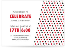 Playing Cards Children's Birthday Party Invitations