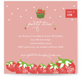 Strawberry Love Children's Birthday Party Invitations