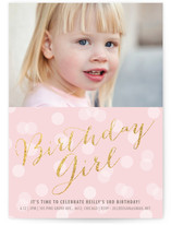 Sparkle Girl Children's Birthday Party Invitations