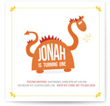 Happy Dragon Children's Birthday Party Invitations